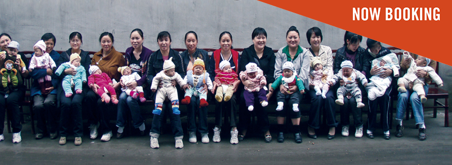 Chinese Women with their babies on their laps