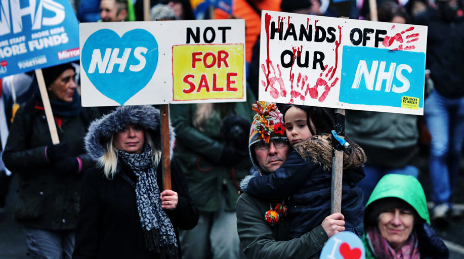 An image from the documentary The Dirty War on the NHS.