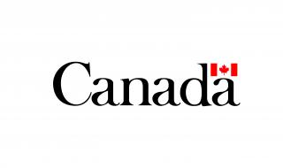 "An image of the High Commission of Canada in the UK's logo. It says the test ""Canada"" with a small Canadian flag above the a on the furthest right-hand side."